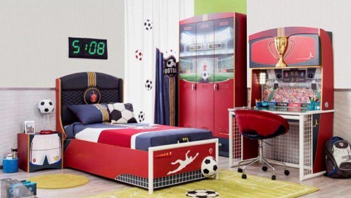 Kinderzimmer Einrichtung Fußball Design Interior | Kinderzimmer ...