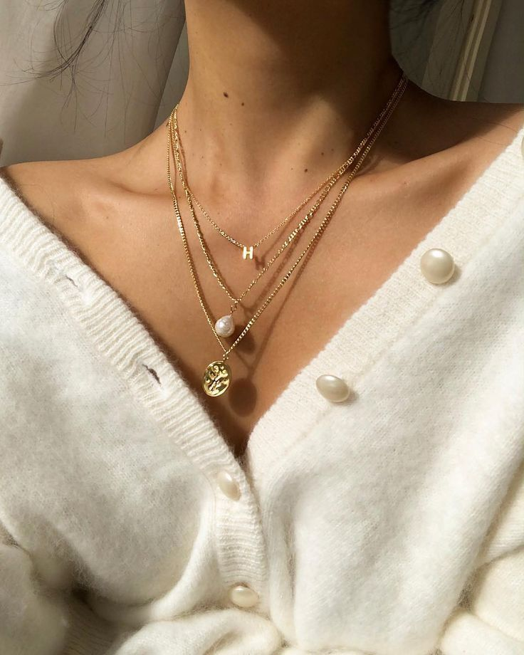 "Hegia de Boer on Instagram: ""Stacking all my new favorite necklaces from @skin,  #Boer #favor… #skin"