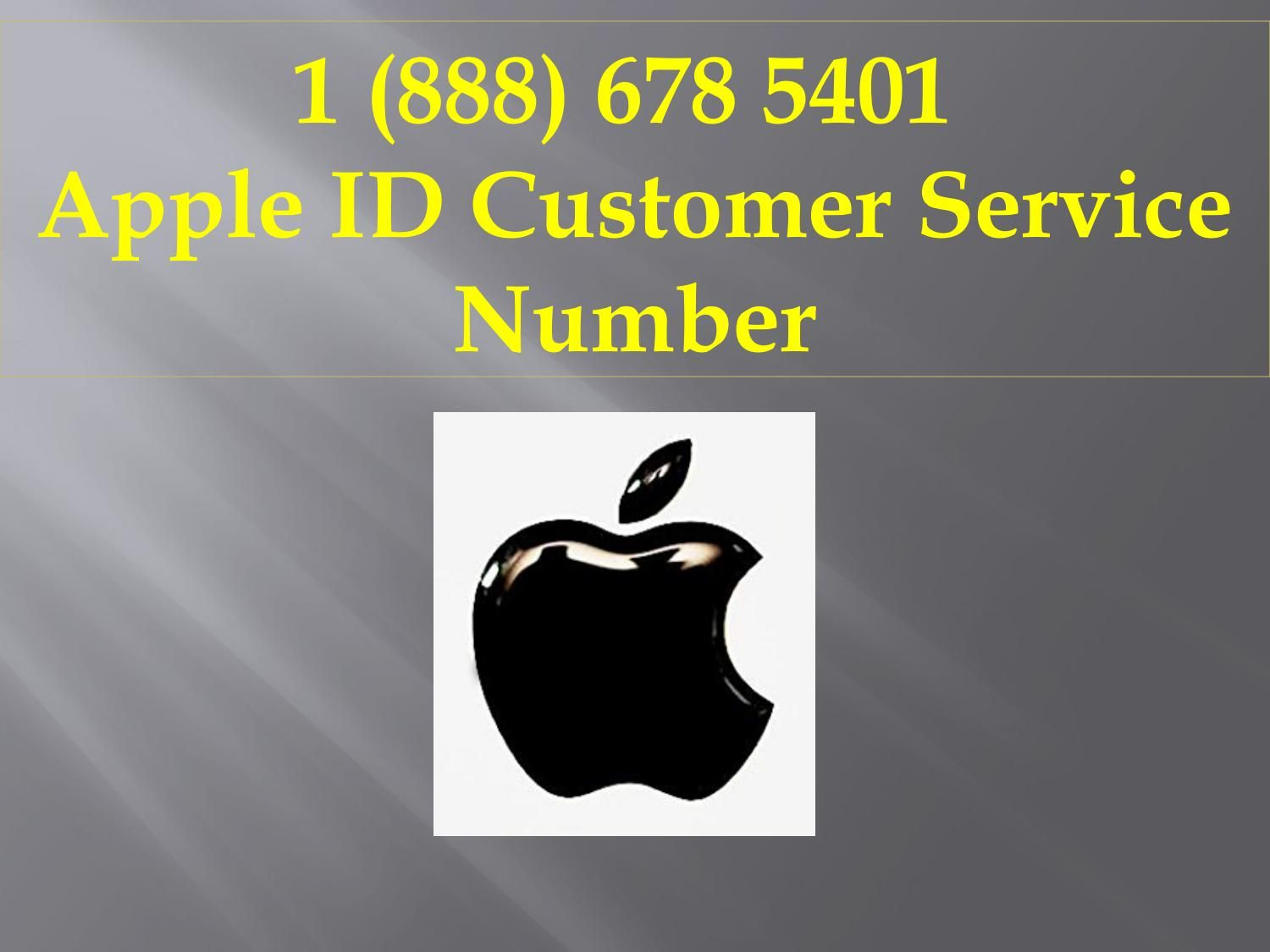 1 (888) 6785401 Apple ID Customer Service Number