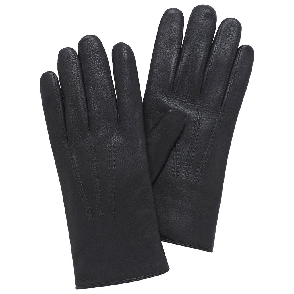 Mens deerskin gloves - Mulberry Men S Day Glove In Black Deerskin
