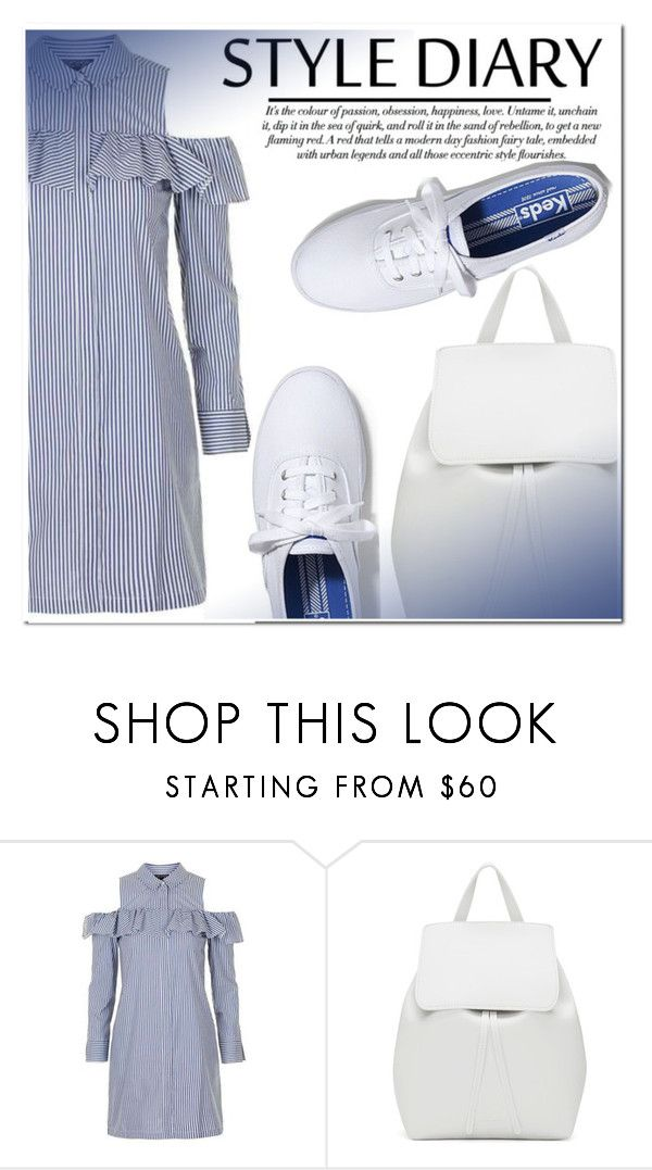 """Untitled #1117"" by samha ❤ liked on Polyvore featuring Topshop, Mansur Gavriel and Keds"