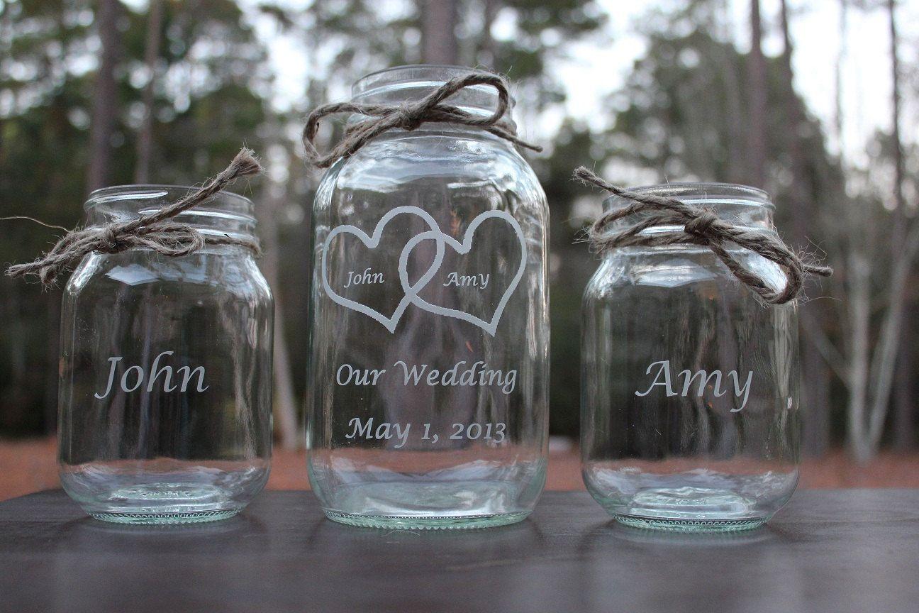 3 piece personalized mason jar sand ceremony set wedding ceremony 3 piece personalized mason jar sand ceremony set wedding ceremony our wedding 2 pouring vases reviewsmspy