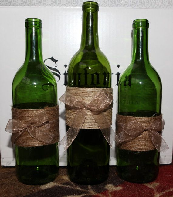 Best 25 wine bottle decorations ideas on pinterest for How to use wine bottles for decoration