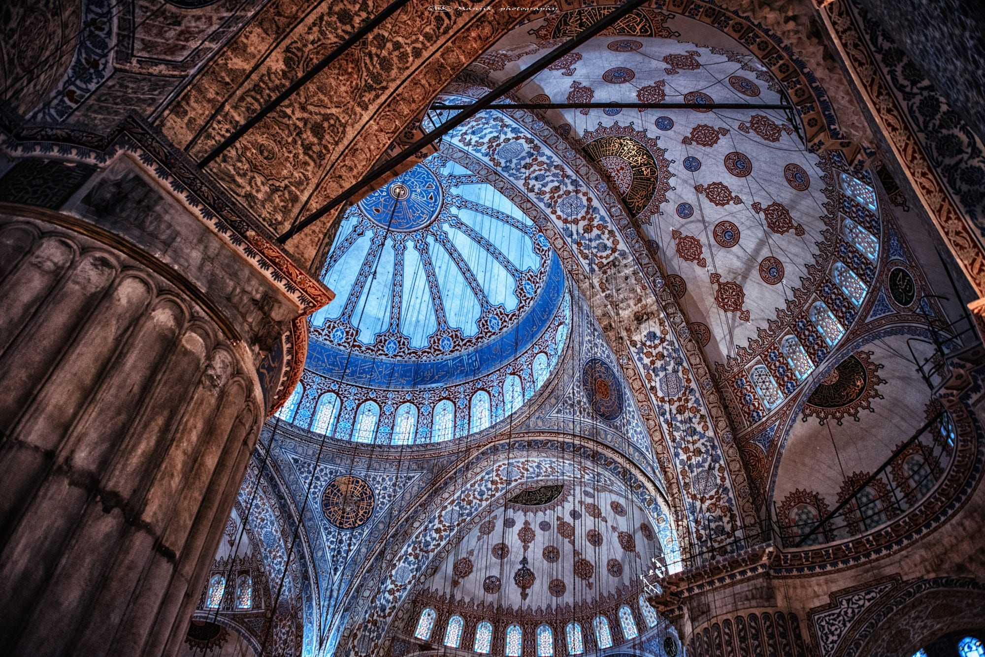 Blue mosque ceiling by Manjik photography on 500px | Blue ...