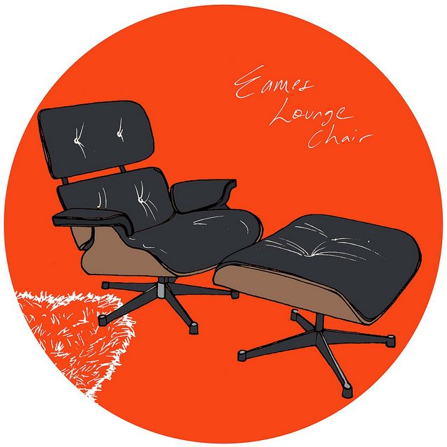 Eames Lounge Chair Illustration For Apartment Therapy By
