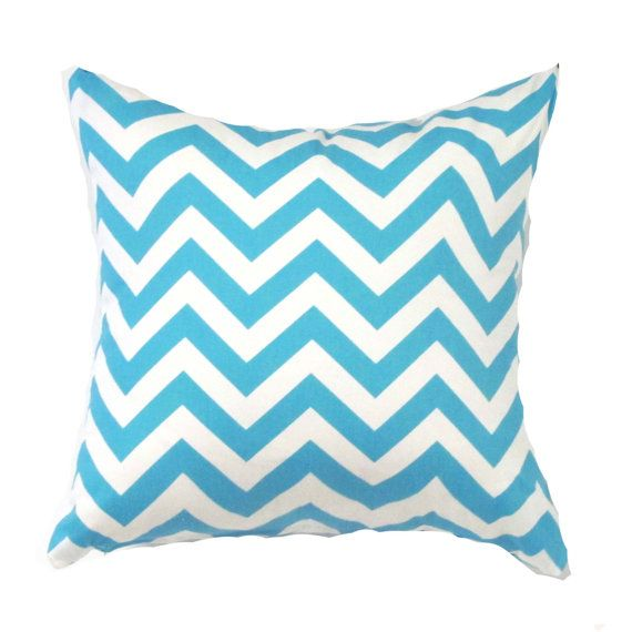 blue pillow cover blue zigzag pillow blue by