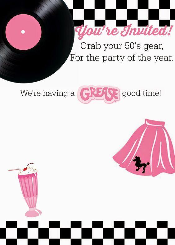Invitation grease 50s buscar con google nana pinterest invitation grease 50s buscar con google stopboris Choice Image