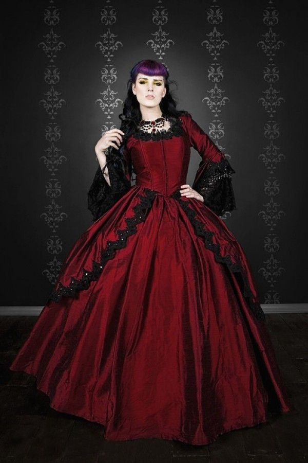 71a7f841b992 Red Gothic Wedding Dresses for Stylish and Sophisticated Bridal Look ...