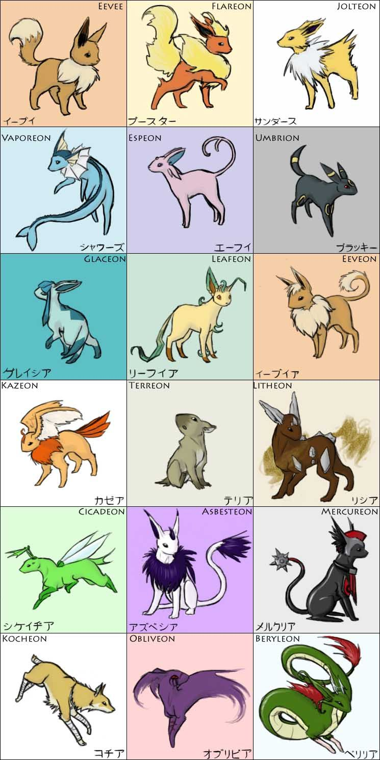 concepts and apostrophes here are some fans full round of eevee