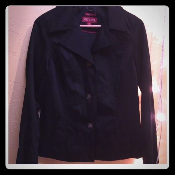 Black women's pea coat Super cute and stylish black light material ...