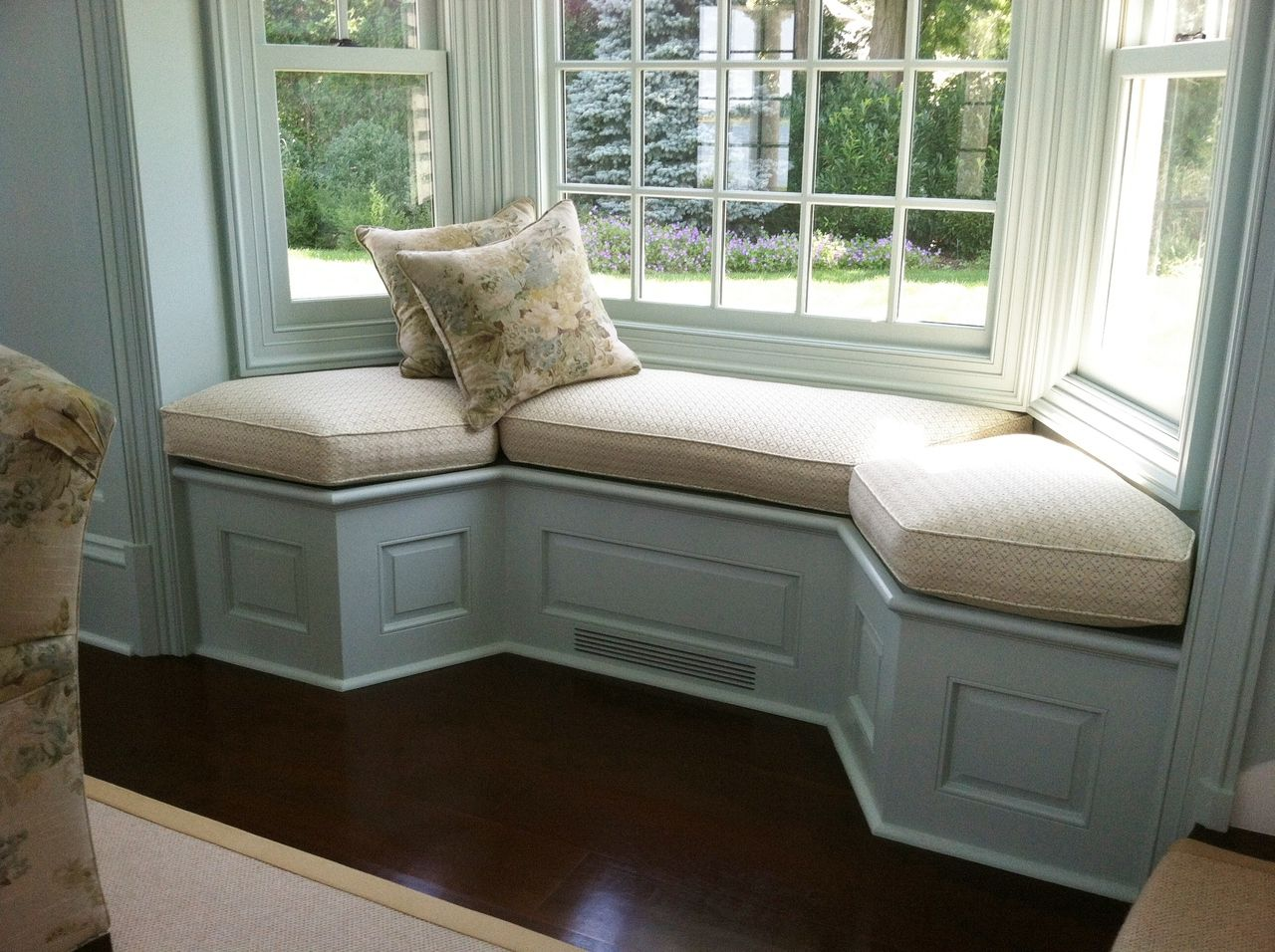 Country window seat cushion cushions
