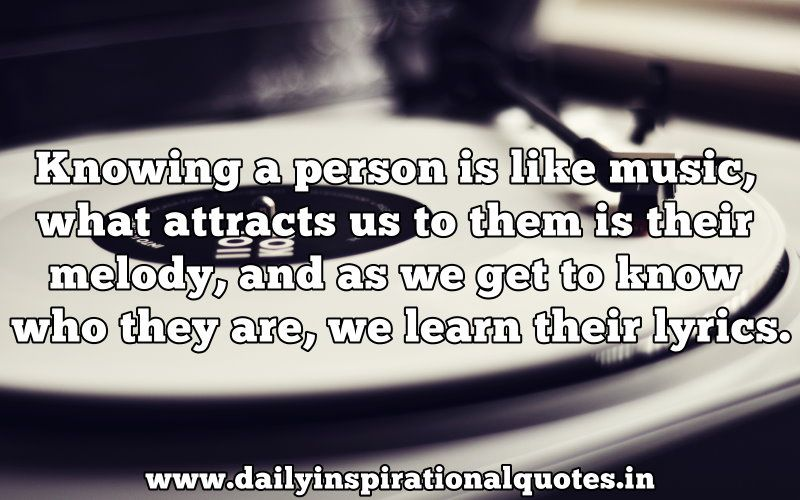 person is like music what attracts us to