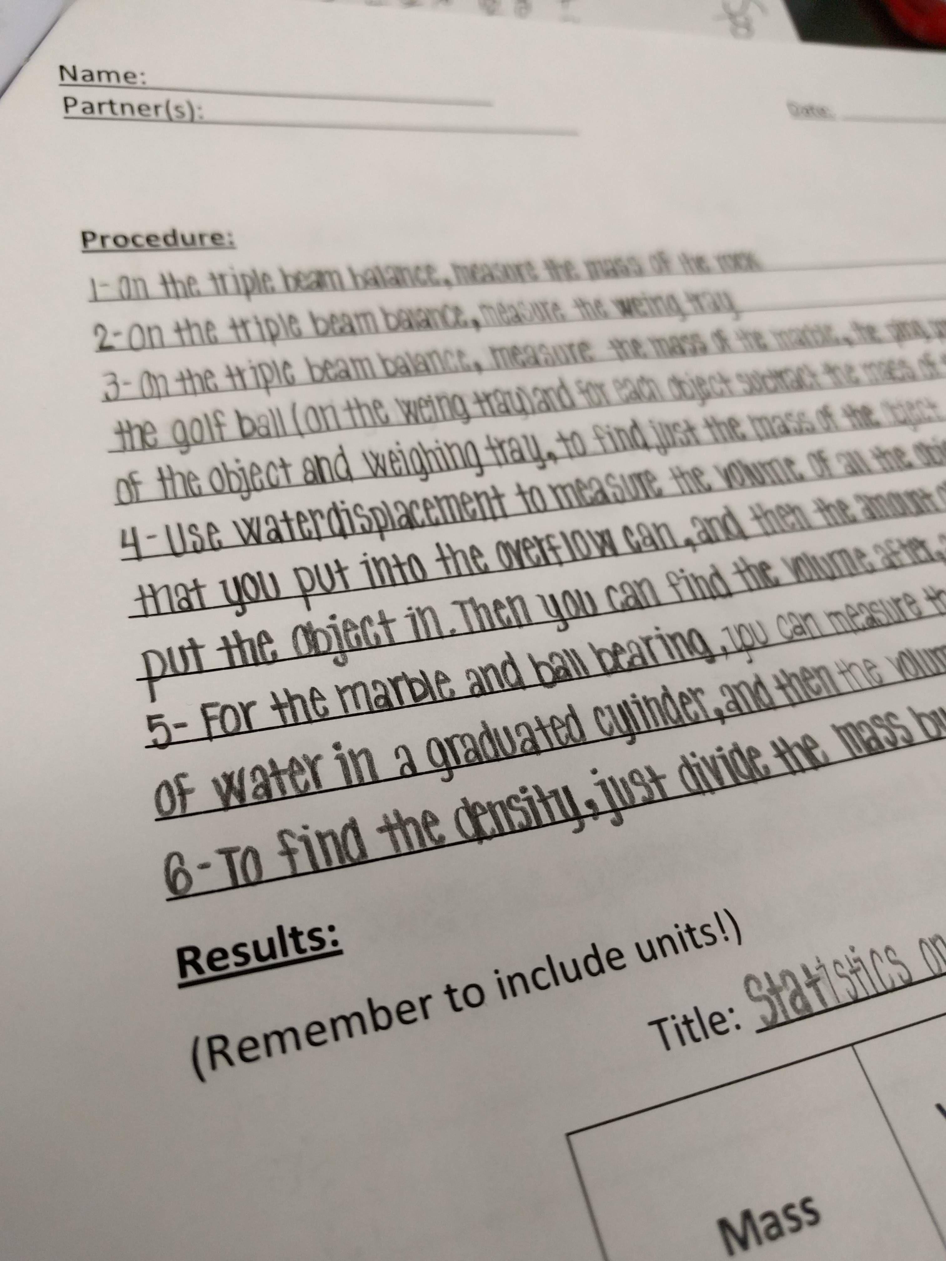 Grade 7 Student S Lab Report