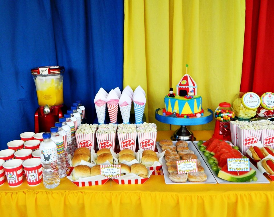 Circus Themed Birthday Party Party Ideas Pinterest Themed - Circus birthday party ideas pinterest
