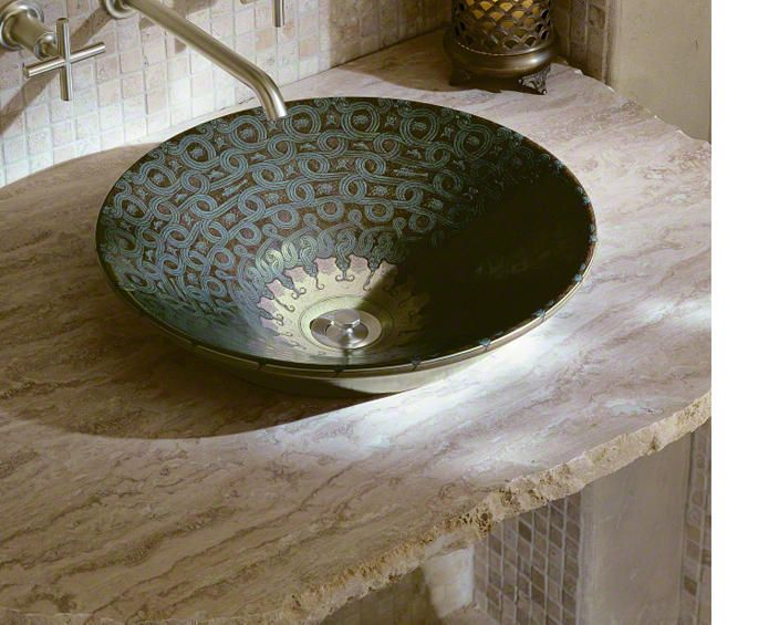 Kohler Serpentine Bronze Sink Modern Interior Decor Moroccan