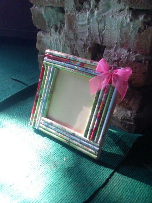 Diy Paper Roll Photo Frame Frame Diy Paper Handmade