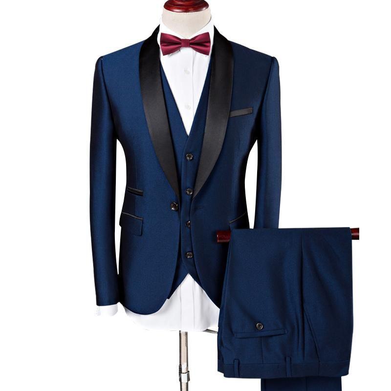 Lilis Mens Solid White 2 Piece Suit Notch Lapel Jacket Blazer Set