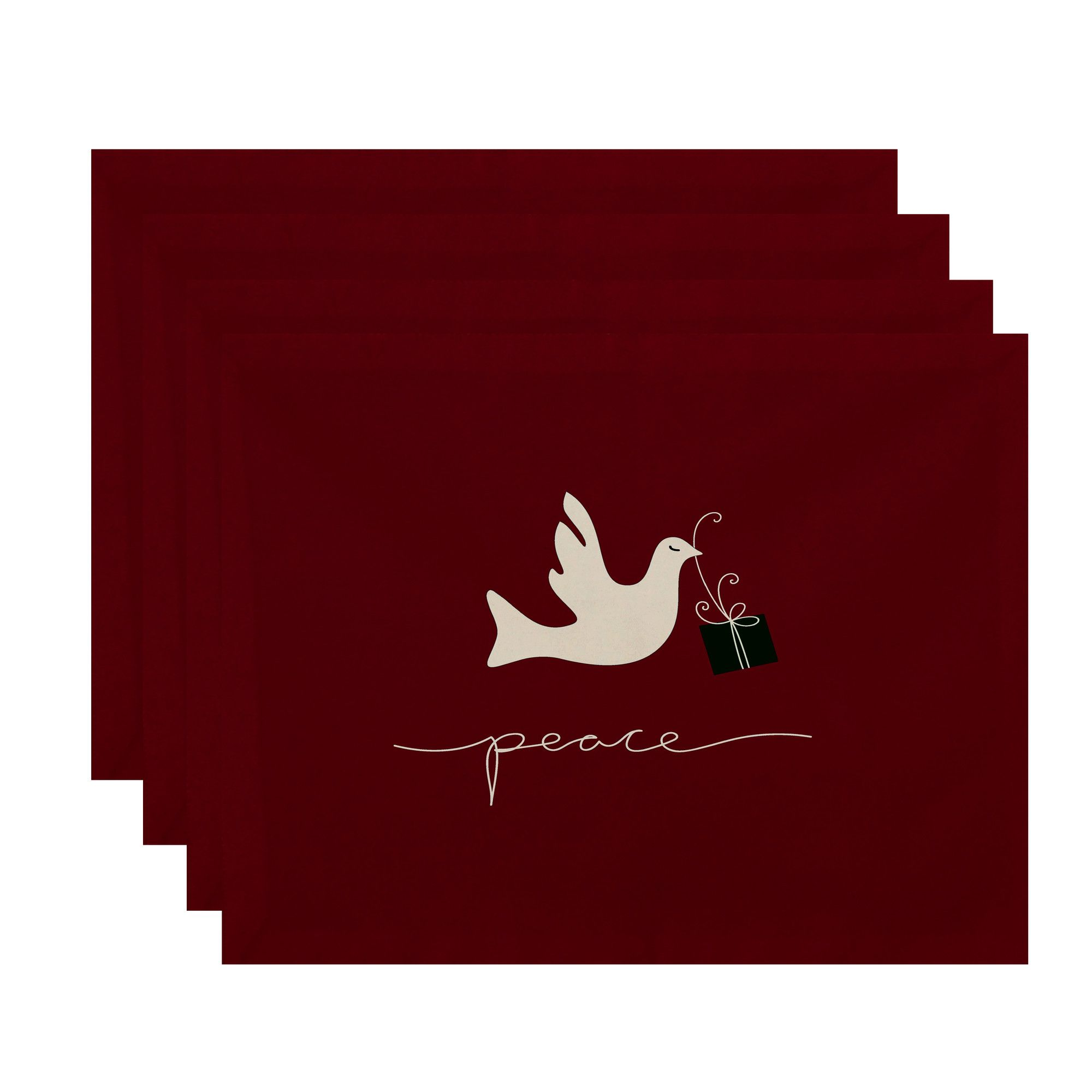 Holiday Peace Dove Animal Print Placemat | Products | Pinterest ...
