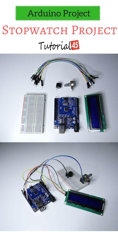 Arduino Stopwatch Project Arduino projects, Arduino