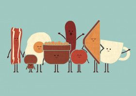 "Fun With Food by Teo Zirinis | metal posters - Displate #englishbreakfast explore Pinterest"">… | Displate thumbnail"