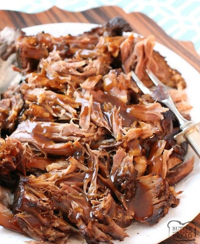 SLOW COOKER PORK ROAST RECIPE - Butter with a Side of Bread
