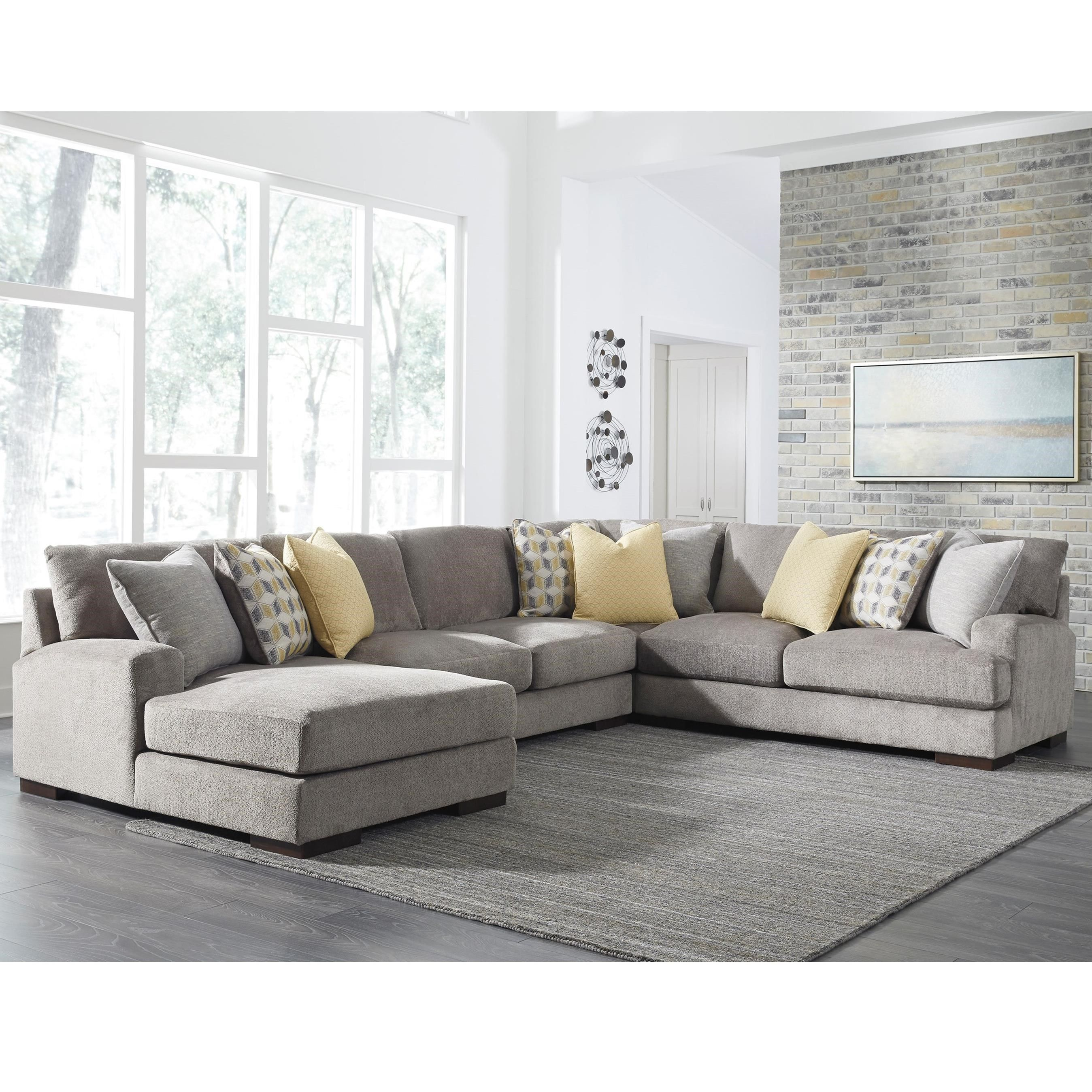 Fallsworth 4 Piece Sectional By Benchcraft Sectional Sofa