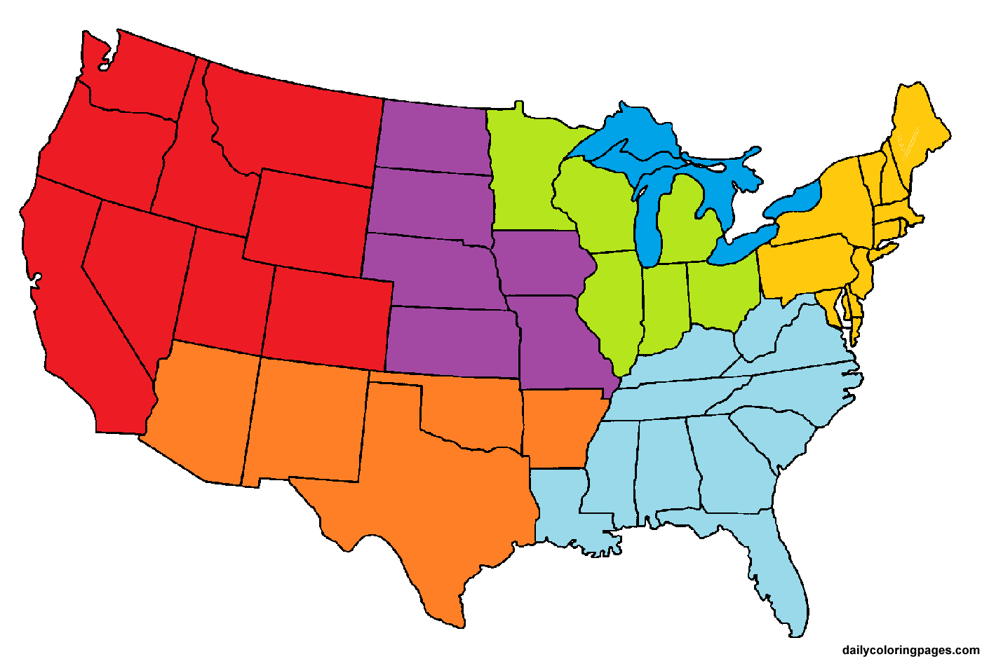 The New 50 States And Capitals Song Region