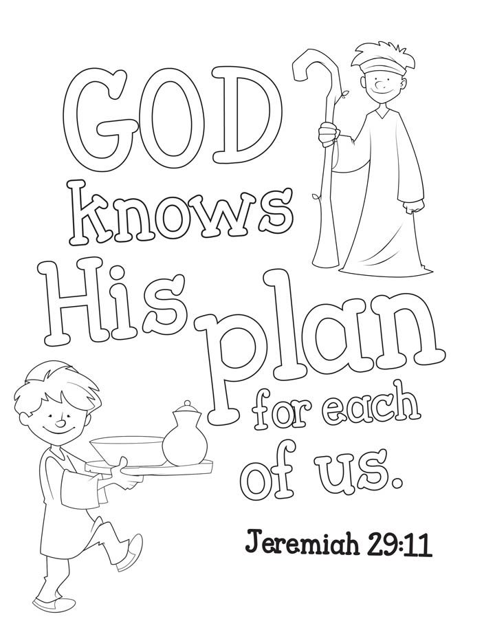 Jeremiah 29 11 Coloring Pages By Michael Bible Stories For Kids