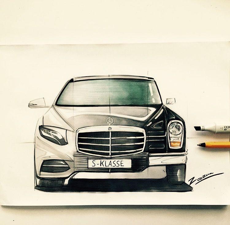 Mercedes Benz Art Coeur Sur Papier Mercedes Auto Auto Design
