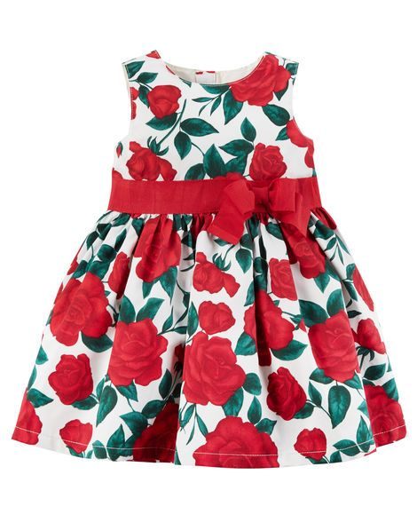 57ff08330a4c Rose Bow Dress Carters Baby Girl, Baby Girls, Kids Girls, Toddler Girl  Outfits