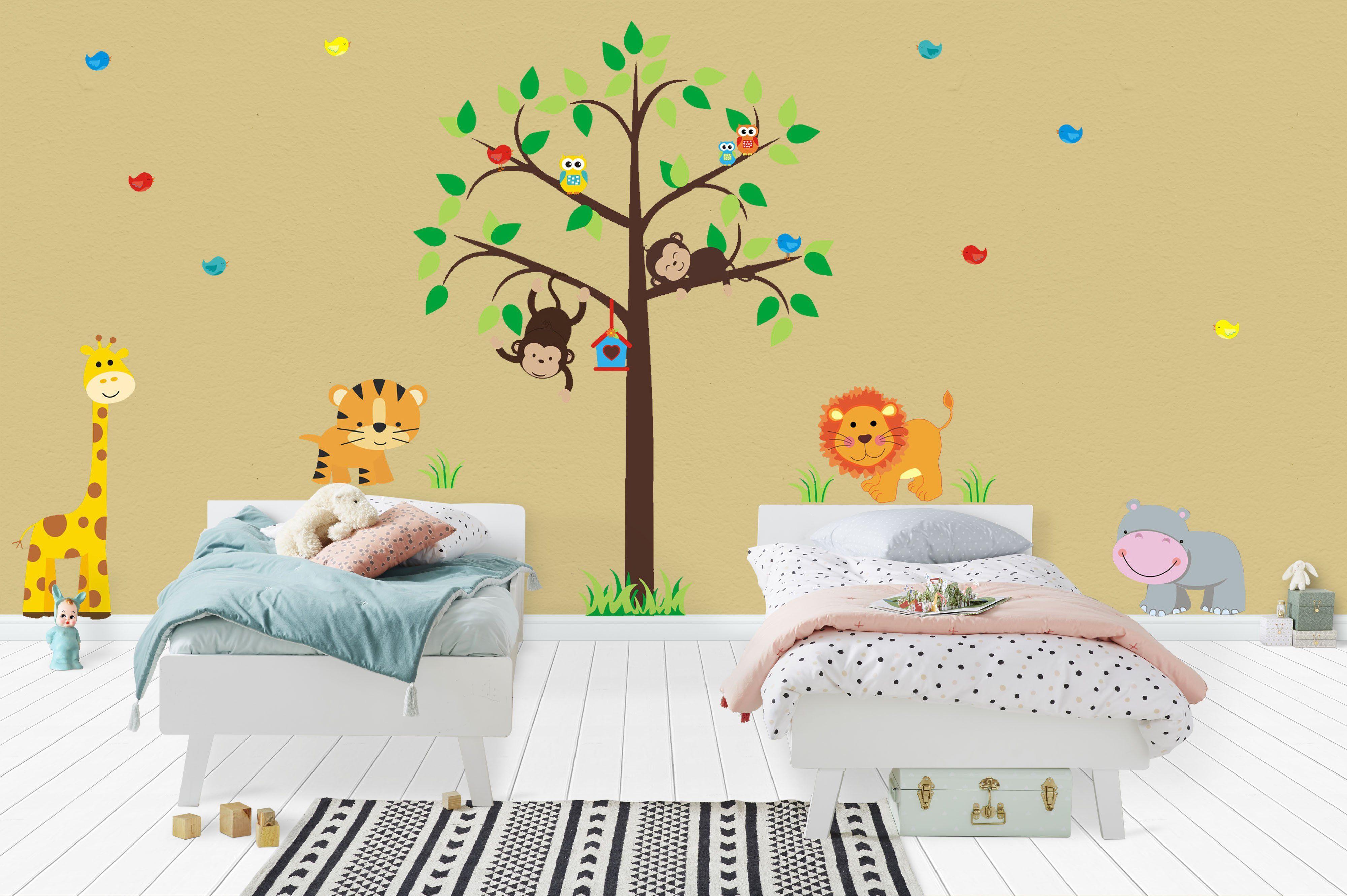 Nursery Wall Decals, Safari Animal Wall Decals, Zoo Animal Wall ...