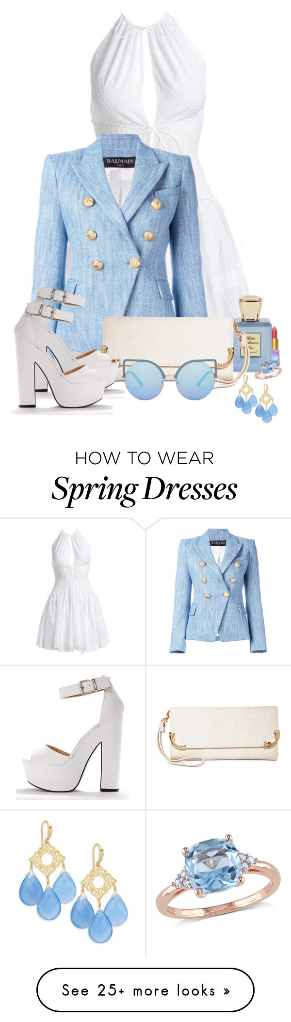 """Wear It in a Denim Jacket 2"" by sarahguo on Polyvore featuring Alaïa, Balmain, MKF Collection, Matthew Williamson and Indulgems"