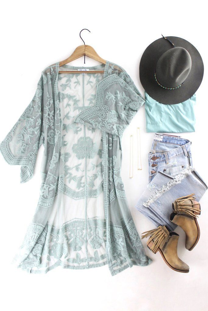 94105550c466e Dusty Sage Lace Duster