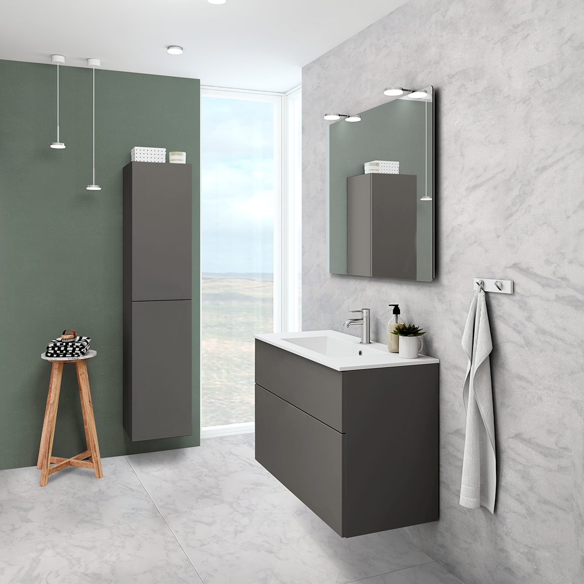 The New Grey Matt Gives A Feel Of Elegance And Luxury To Your Bathroom Modular Furniture System Traditional Bathroom Modular Furniture