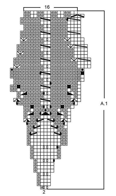 Boina de punto DROPS con patrón de hojas, tejida de arriba para ...