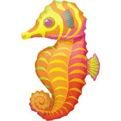 "Amazon.com : Seahorse Shaped 35"" Mylar Balloon : Party Balloons : Toys & Games"