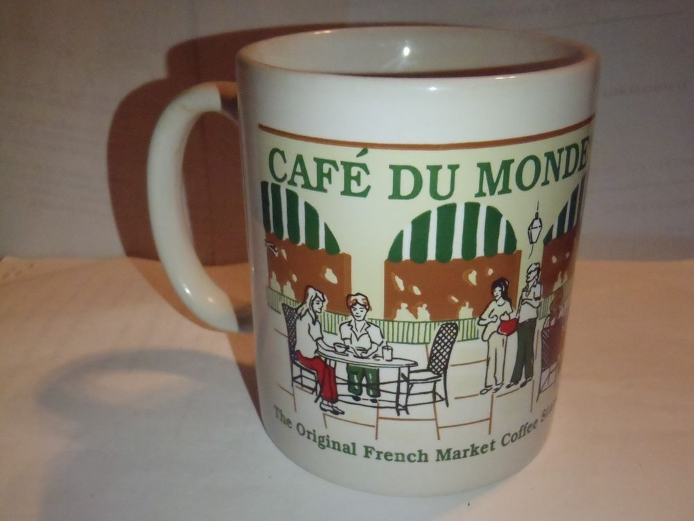 CAFE DU MONDE French Quarter New Orleans Coffee Mug Cup