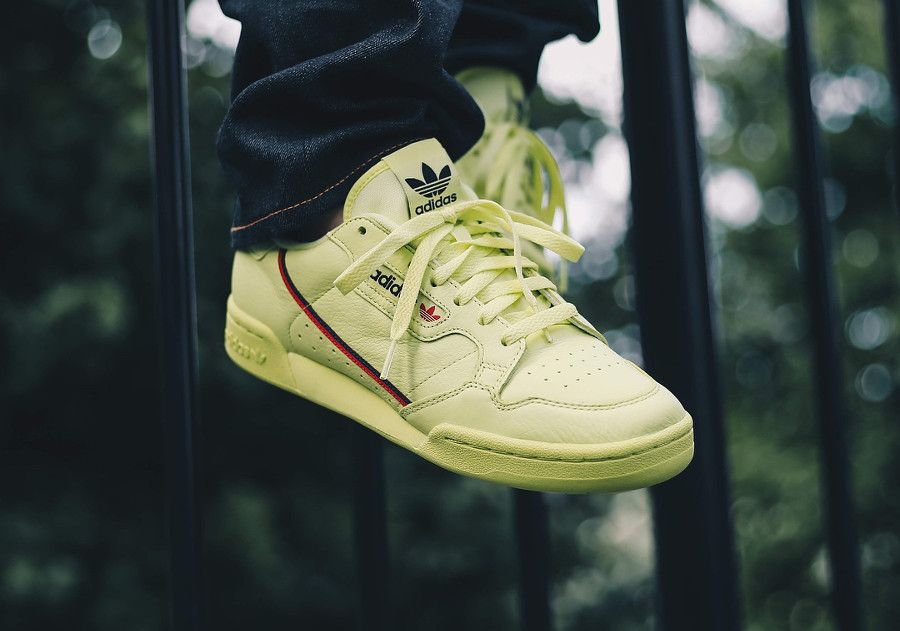 Adidas Continental 80 Semi Frozen Yellow #sneakers #baskets