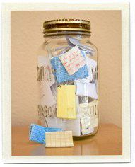 I love this idea.  I know that we are 5 months into the new year, but that makes 7 months of memories to collect!  I'm starting one today.