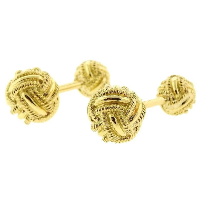 Tiffany & Co Gold Rope Knot Cufflinks