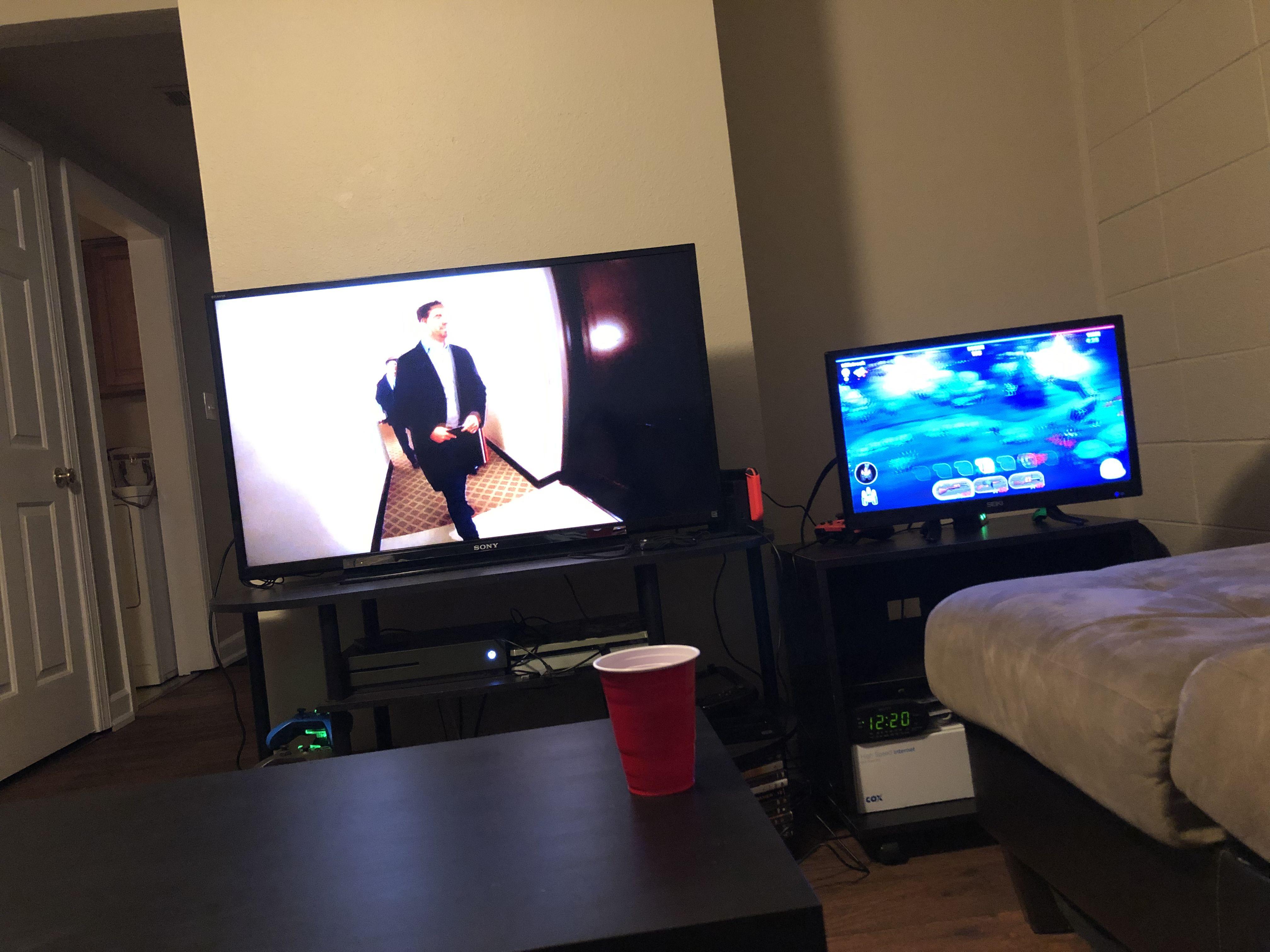 Two Tv Setup Living Room Tv Living Room Sets Gamer Setup #two #tv #living #room