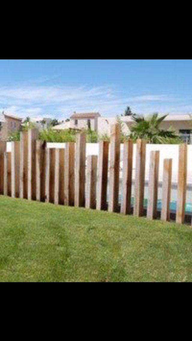 Palissade irreguliere Vallas Pinterest Rejas, Piscinas y Cierre - cercas para jardin