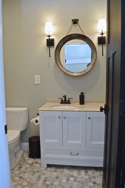 A Peek At The Downstairs Bathroom Budget Bathroom Budgeting And - Budget bathroom flooring