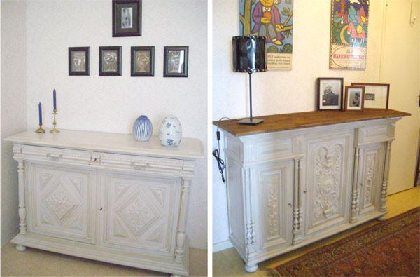 Coup de baguette magique sur des meubles anciens Appartements en - Peindre Meuble En Chene Vernis