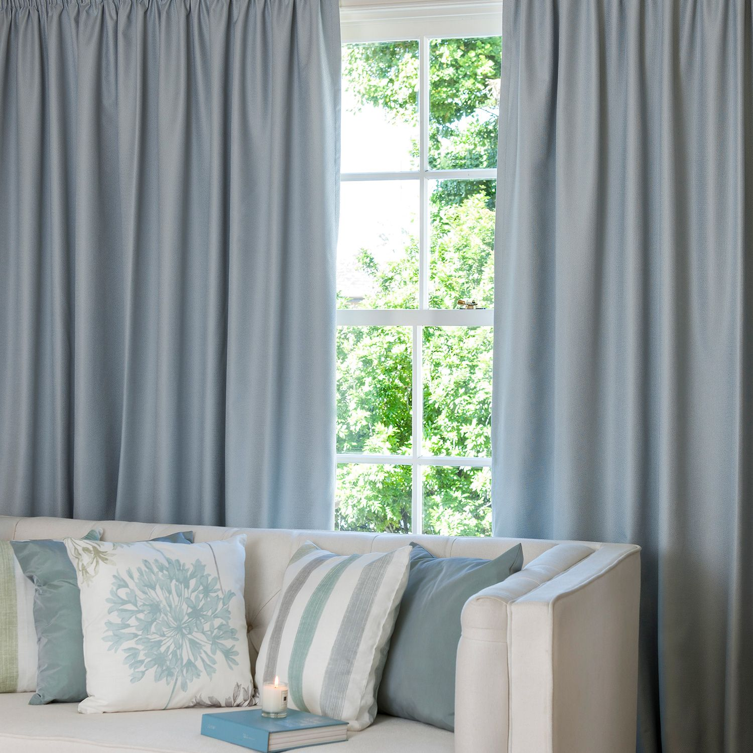 Cove Duck Egg Readymade Thermal Pencil Pleat Curtain Curtain Studio Buy Curtains Online Pleated Curtains Pencil Pleat Buy Curtains