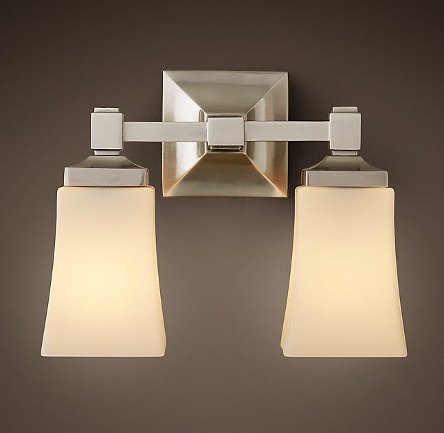 RHu0027s Dillon Double Sconce:Dillon Is A Modern Classic, With Clean Lines And  Thoughtful · Bathroom LightingModern ...