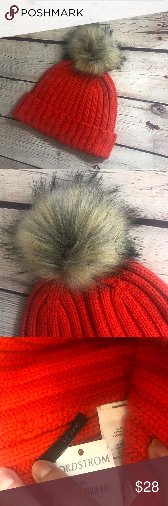 c9c2fc0f063bc J. Crew Ribbed Faux Fur Beanie On our list of stylish yet cozy winter  essentials