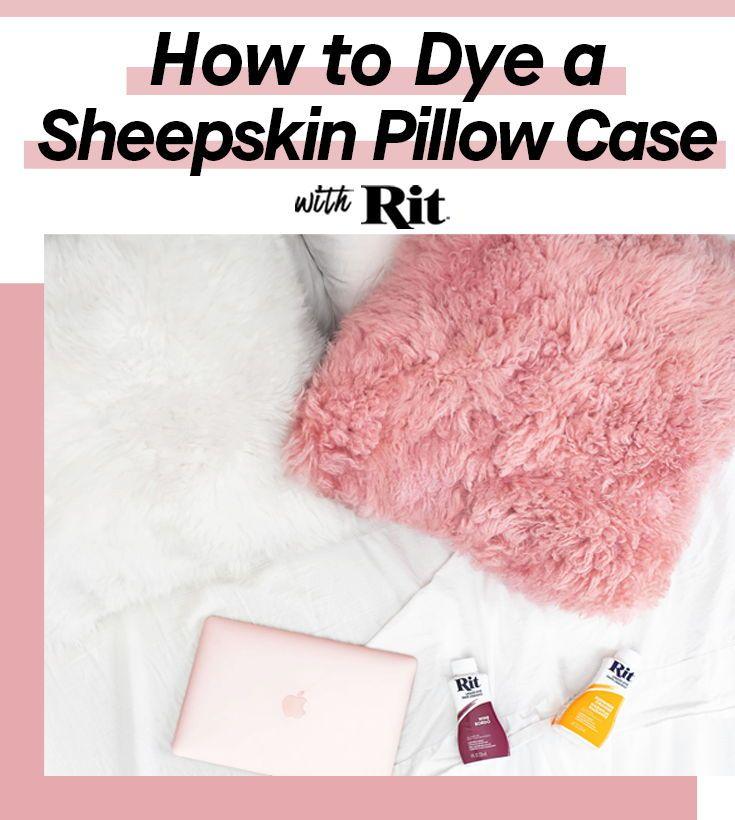 Dyed ikea sheepskin pillow rit dye sheepskin pillows