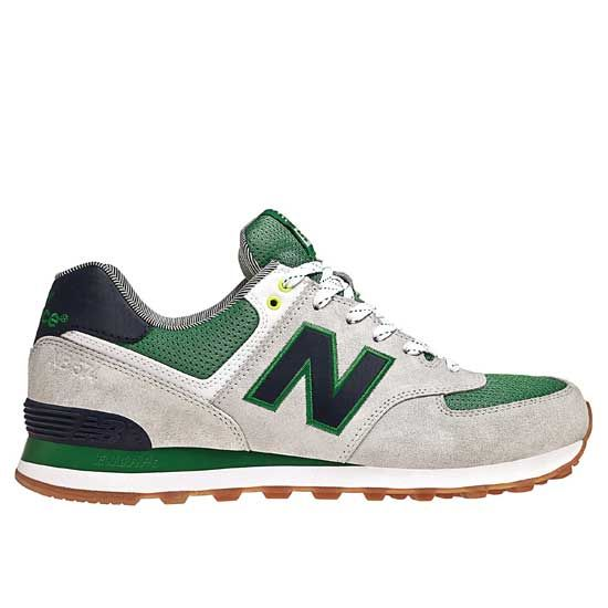 New Balance 574 Yacht Club lovers Green White Grey men shoes