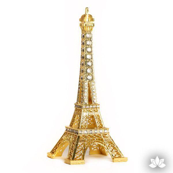 Eiffel Tower Cake Topper Gold Eiffel tower cake